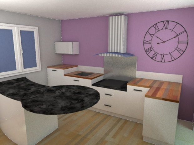 Fabrication et pose de cuisines sur mesure for Cuisine plan 3d